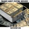Finance guest posting service